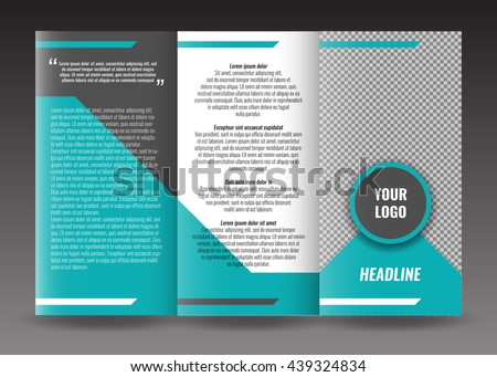 tri fold pamphlet template