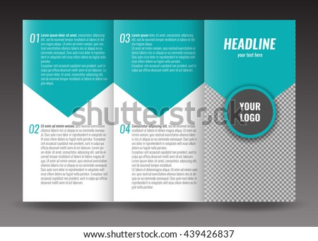 Corporate Trifold Brochure Template Design World Stock Photo Photo