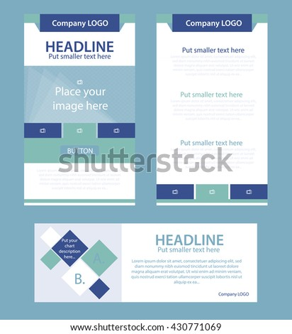 Corporate vector layout templates for business or non-profit organization - stock vector