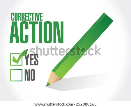 corrective action concept illustration design over a white background