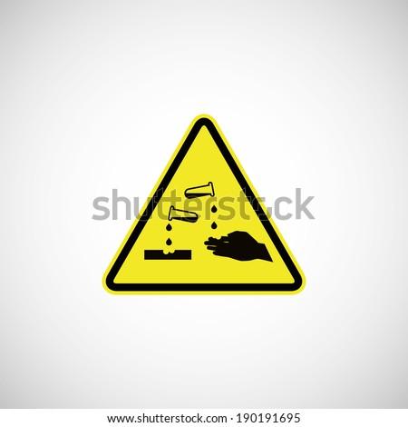 corrosive sign - stock vector