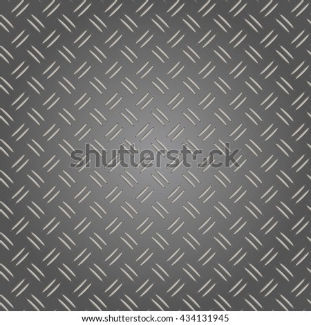 Corrugated aluminum sheet. Metal seamless background. Vector illustration.  - stock vector