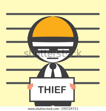 corrupted businessman - stock vector