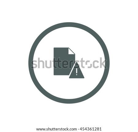 Corrupted document icon. - stock vector
