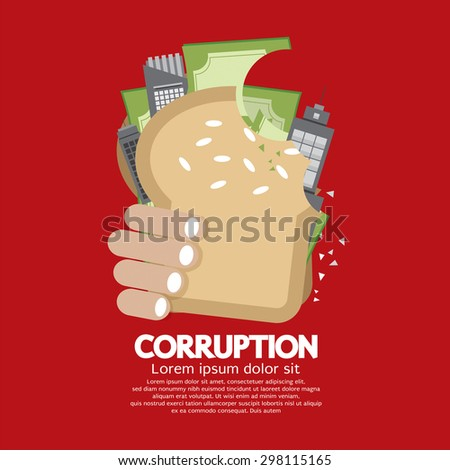 Corruption Concept Vector Illustration - stock vector