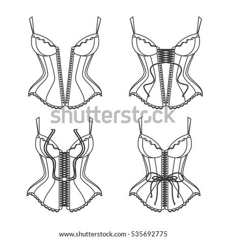 corset illustration stock images royaltyfree images