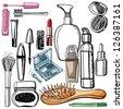 cosmetic - stock vector