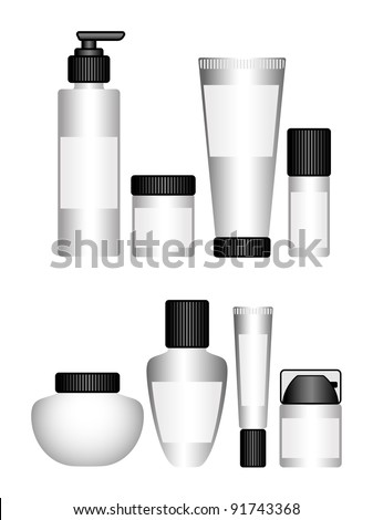 Cosmetic containers - stock vector