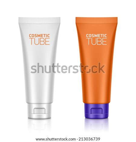 Cosmetic packaging, plastic tube. Vector. - stock vector