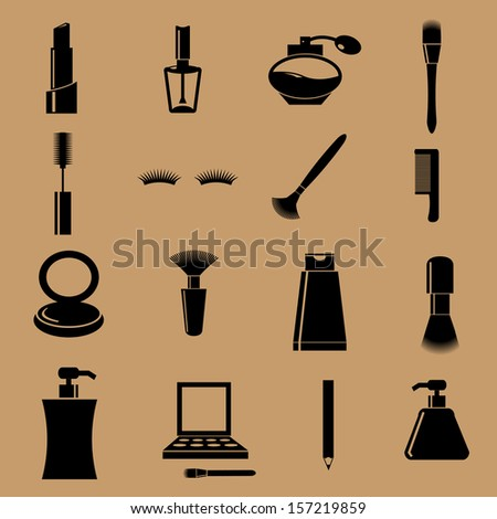 Cosmetic set beauty device icon