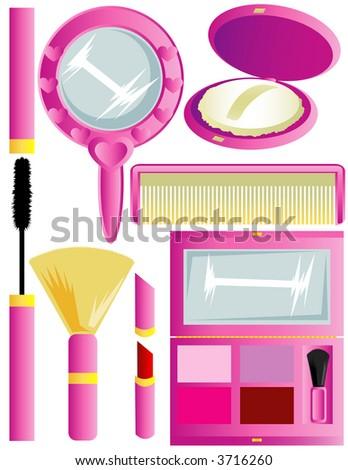 Cosmetic Supplies - stock vector