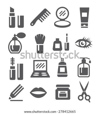 Cosmetics Icons - stock vector