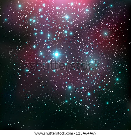 Cosmic background - vector illustration. - stock vector