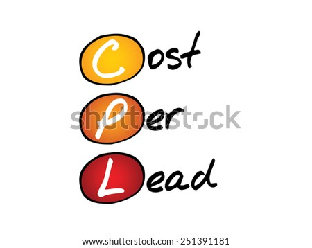 Cost Per Lead (CPL), business concept acronym - stock vector