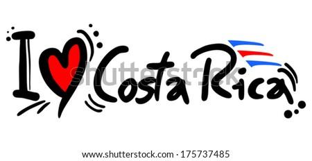 Costa Rica love - stock vector