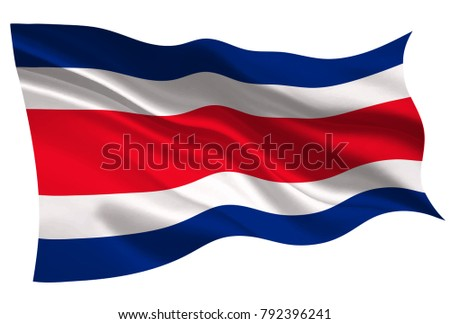 Costa Rica national flag flag icon