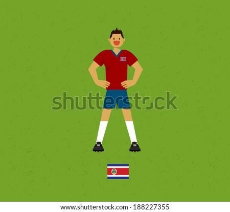 Costa Rica Soccer Tables  - stock vector
