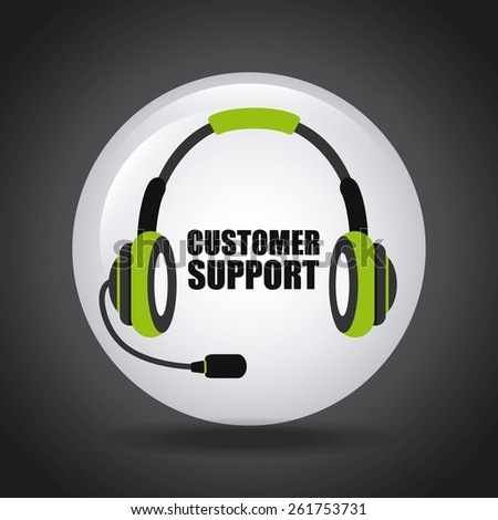 costumer support design, vector illustration eps10 graphic  - stock vector
