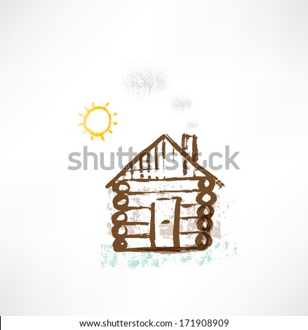 cottage grunge icon. - stock vector