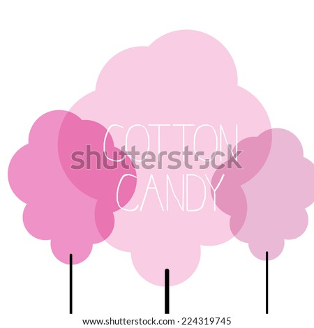 Cotton candy, candy floss, vector illustration - stock vector