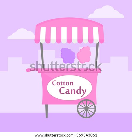 Cotton Candy Cart Stock Images Royalty Free Images