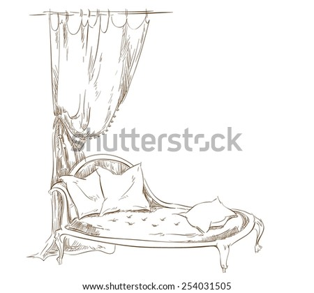 Couch - stock vector