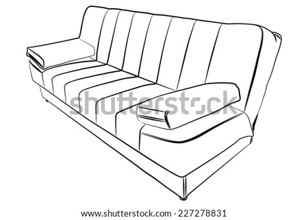 couch for rest - stock vector