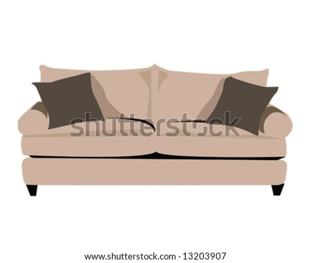 couch vector illustration - stock vector