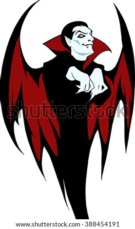 Count Dracula isolated on a white background  - stock vector