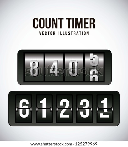count timer over gray background. vector illustration - stock vector