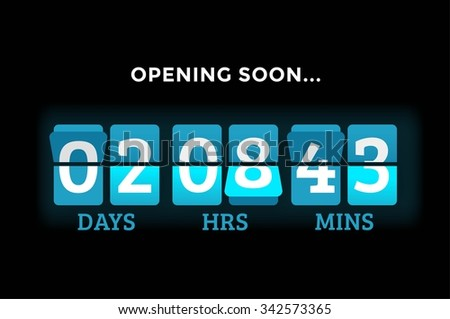 Countdown clock digits board panels timer. Website timer counter. Sale opening soon. New year, Christmas timer sale. Vector mechanical timer. Black Friday timer. Vector website timer banner. Web timer - stock vector