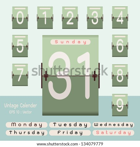countdown timer- calendar - stock vector
