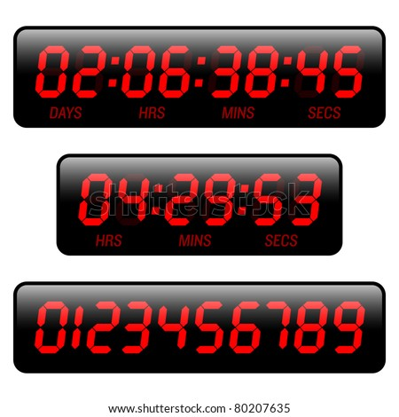Countdown timer. Vector. - stock vector