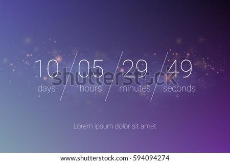 countdown web site vector flat templateのベクター画像素材 594094274