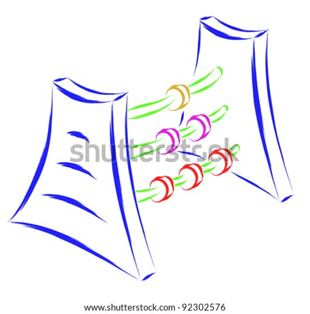 counter - stock vector