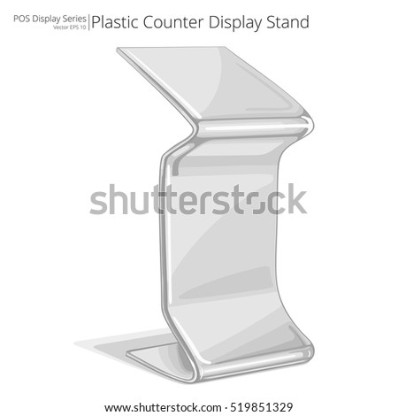 Counter Display Stand. Vector, Illustration of a Counter Display Stand. Sketch style. POS series.
