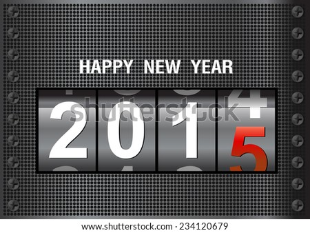 Counter New Year 2015,  Vector Illustration  - stock vector