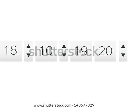 Counter panel - stock vector
