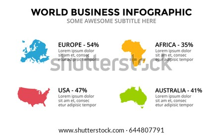 Countries Map Infographic Global Business Marketing Presentation World Transportation Data Economic Statistic Template