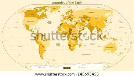 Countries of the Earth. Vector illustration - stock vector