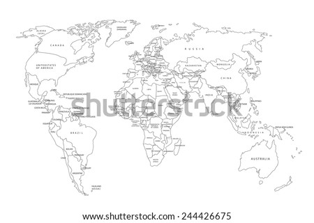 Countries of the world. Vector illustration - stock vector