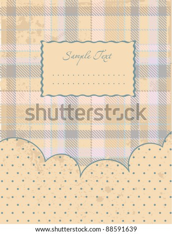 country blue background - stock vector