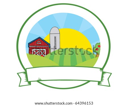 Country Farm Banner - stock vector