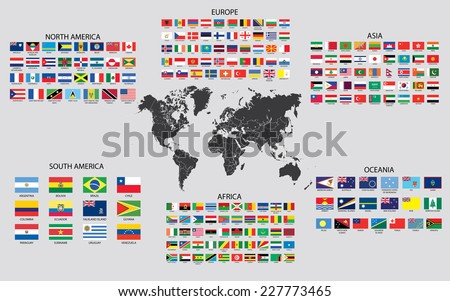 Country Maps of the World - stock vector