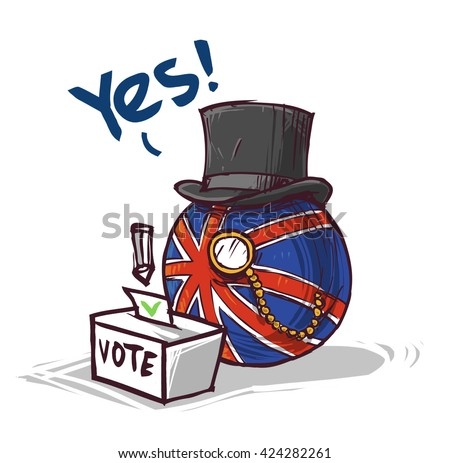 country voting great britain YES  - stock vector