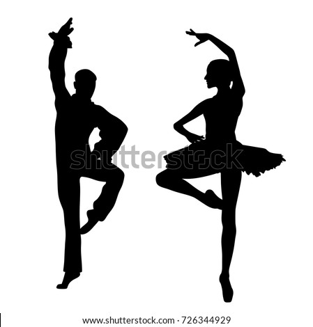 Couple ballet dancers