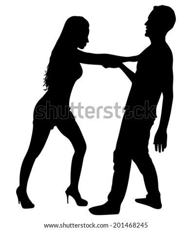 Couple fight, vector  - stock vector