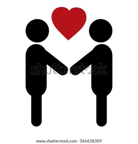couple in love - stock vector