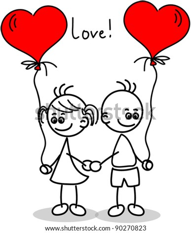 Couple in love  a child s