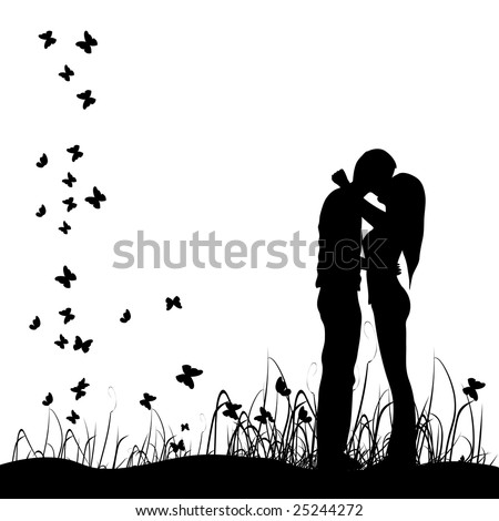 Couple Kissing Stock Vectors Images Amp Vector Art